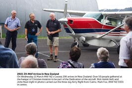 2015: ZK-MAF Arrives In NZ - READ MORE